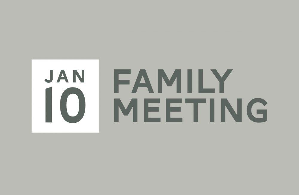 Family Meeting - January Image