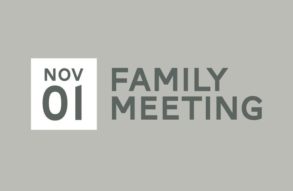 Family Meeting - November Image